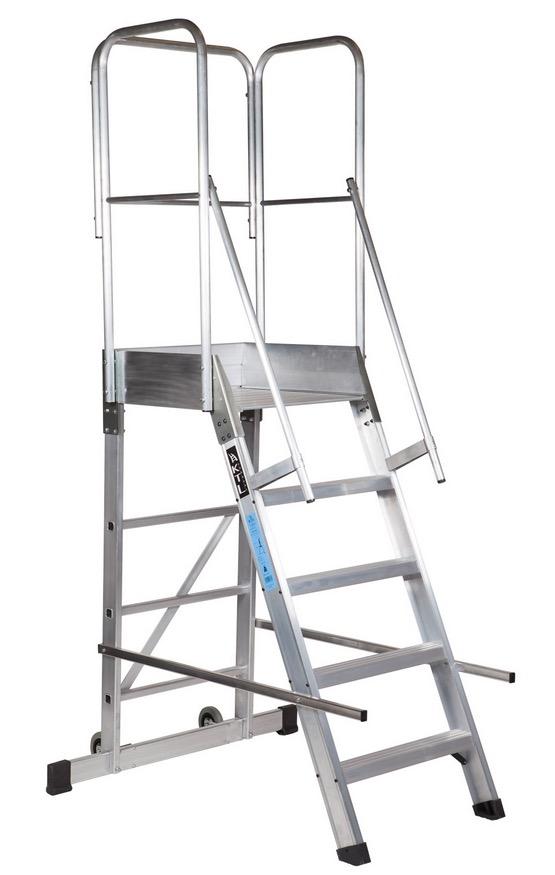 Escalera de plataforma m vil ep 1 acceso - Escaleras para almacenes ...