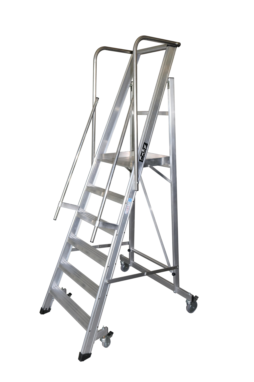 escalera móvil con plataforma, plegable, 2xl-s Escalera móvil con plataforma, plegable, 2XL-S 2xl s 6