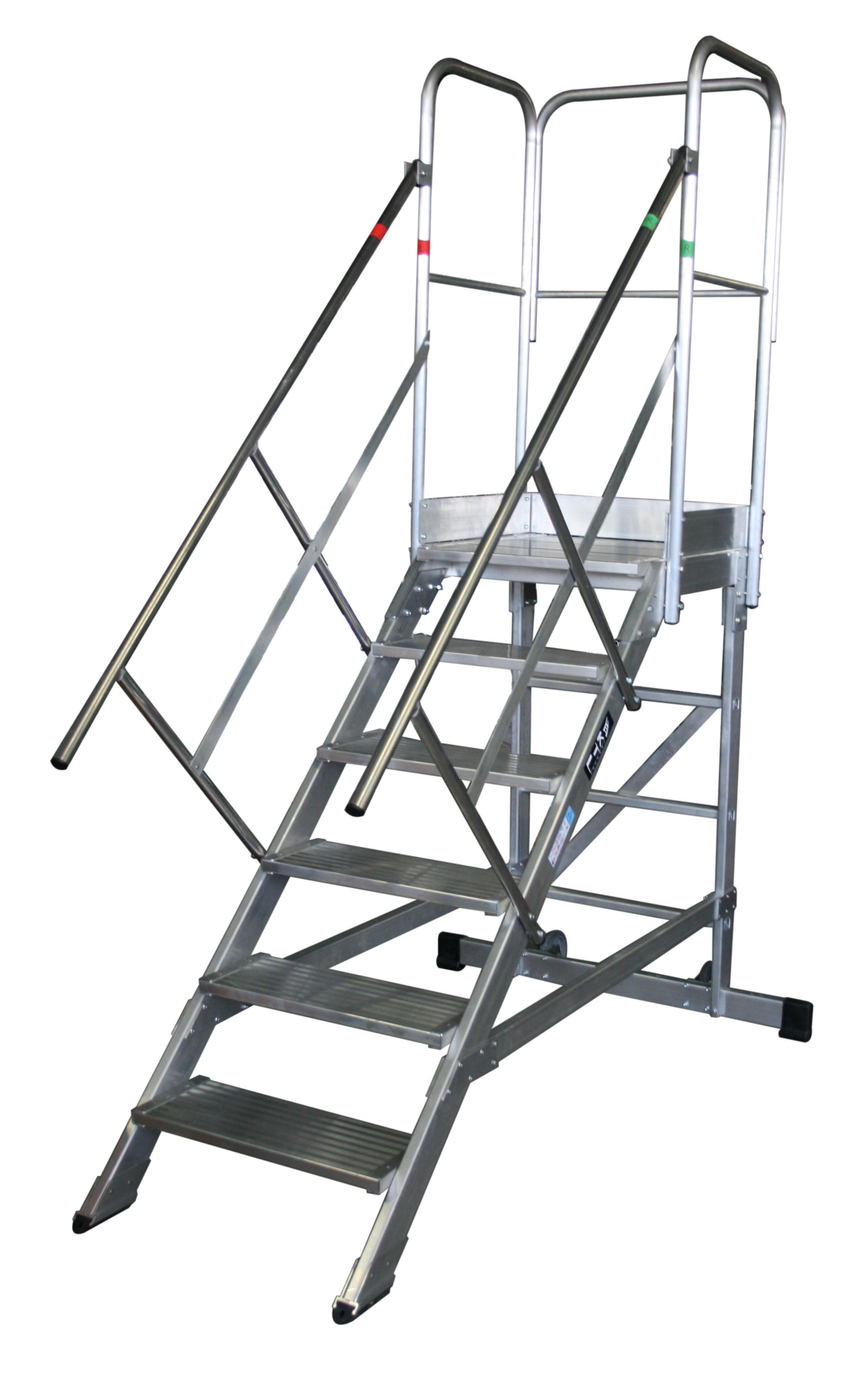 escaleras de plataforma móviles max 45º y 60º Échelles plate-forme roulante MAX 45° et 60° max 45   6peld