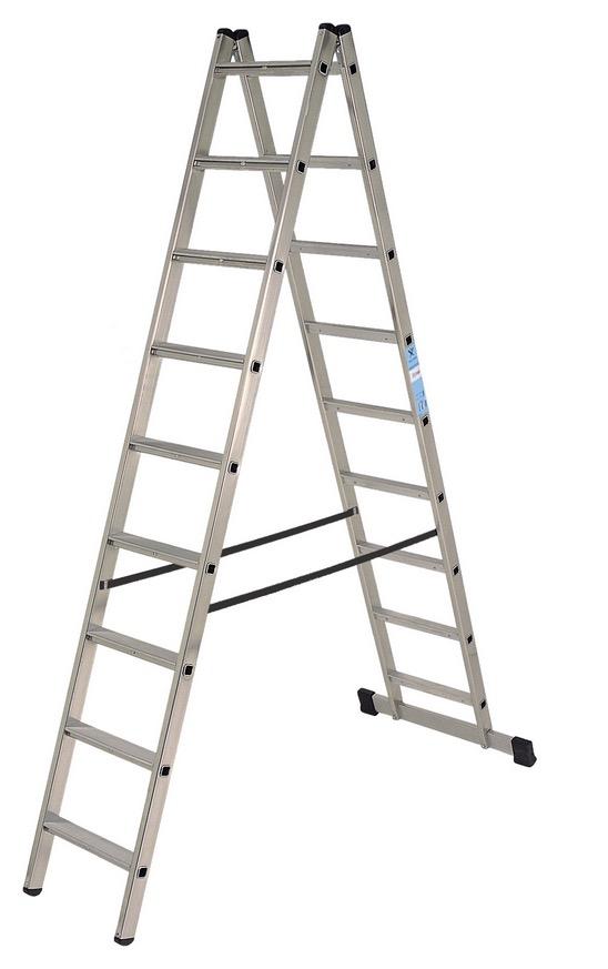 Escalera de tijera de doble acceso for Escaleras tijera