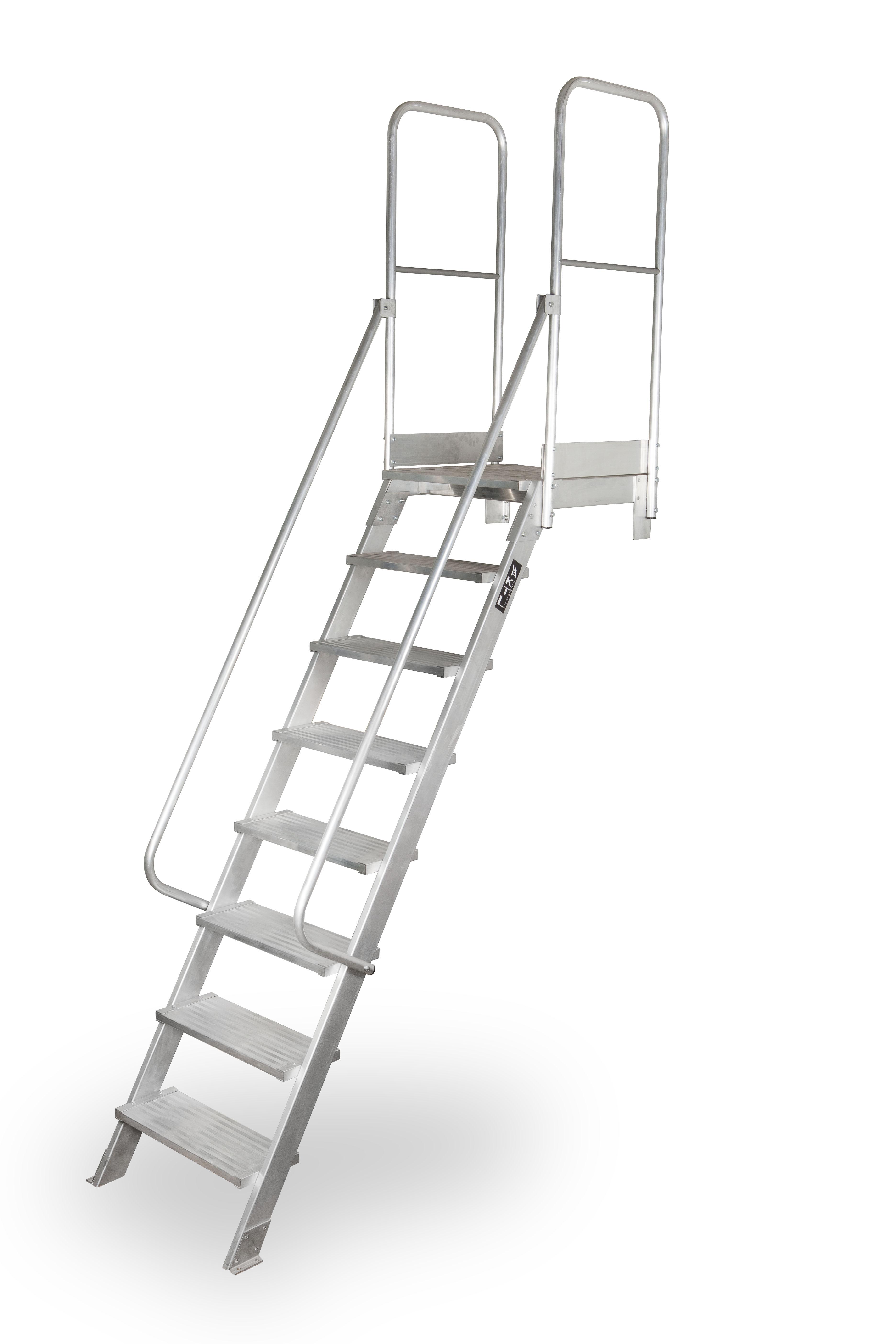 escalera de tijera xl Escalera de acceso MAX 45º y 60º escalera acceso plataforma 8peld
