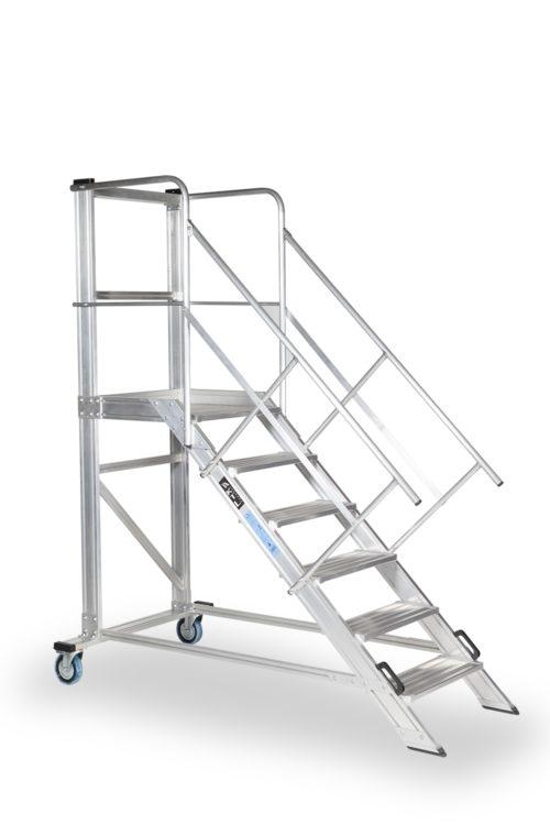 escaleras con plataforma