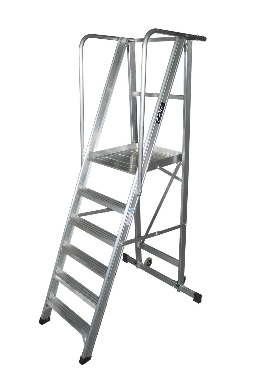 26146006-kastle-6peld escalera móvil con plataforma, plegable, kastle Escalera móvil con plataforma, plegable, KASTLE 26146006 kastle 6peld