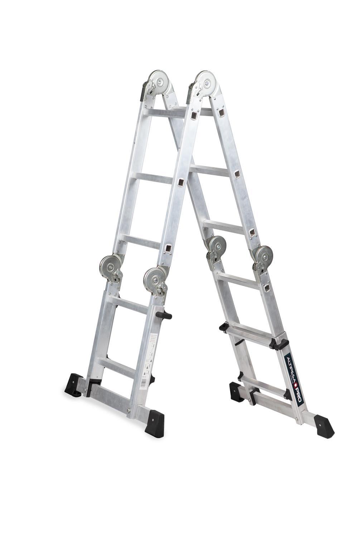 Escalera articulada telescópica multiposiciones escalera articulada telescópica multiposiciones Escalera articulada telescópica multiposiciones multiposiciones 316 tijera asimetrica