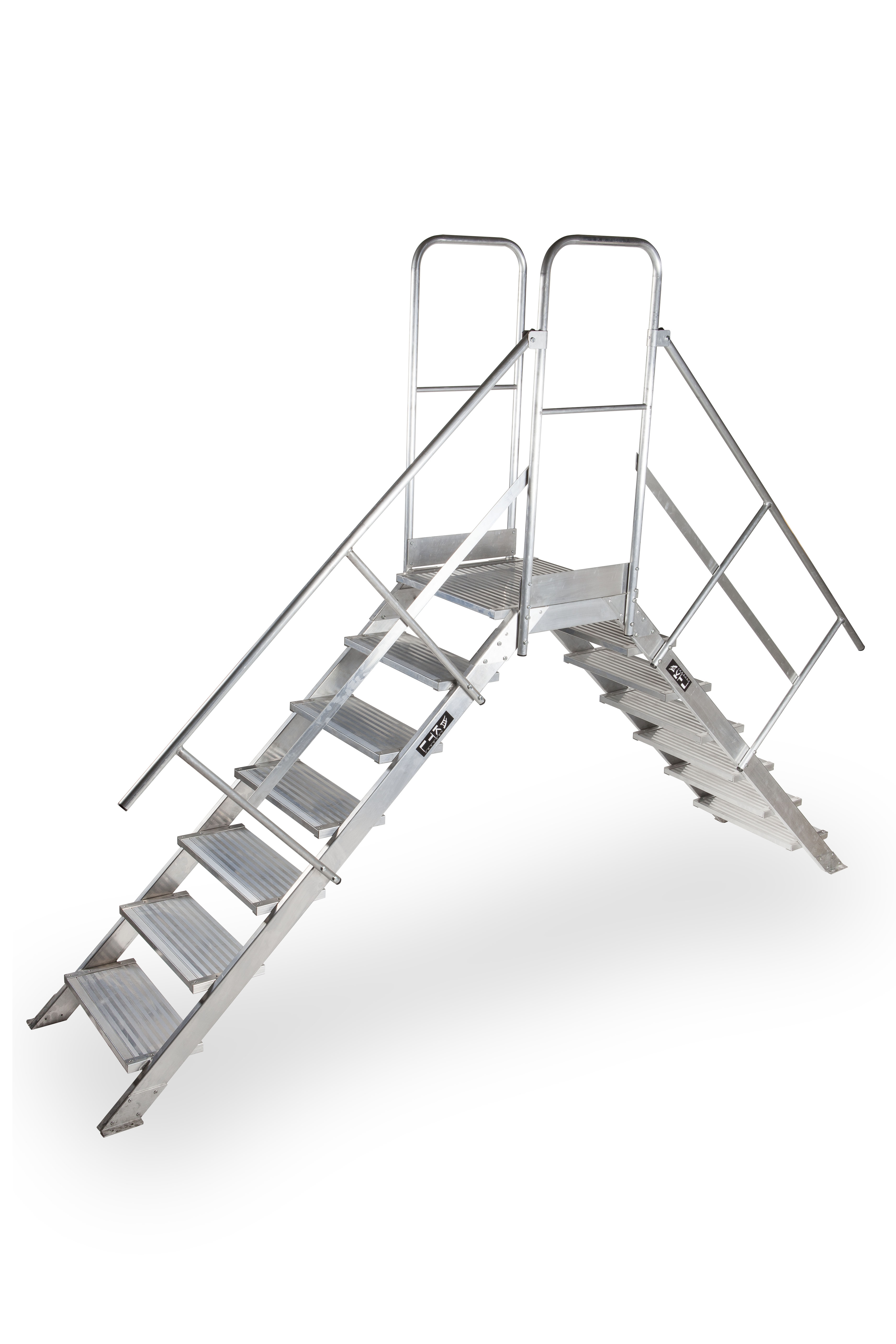 escalera de tijera xl Pasarela de doble acceso MAX 45º y 60º pasarela 7peld