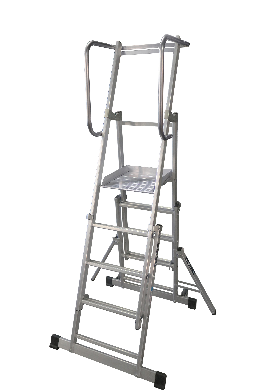 escalera de aluminio advanced Escalera móvil con plataforma, plegable y extensible,EPX-400 epx400 4p